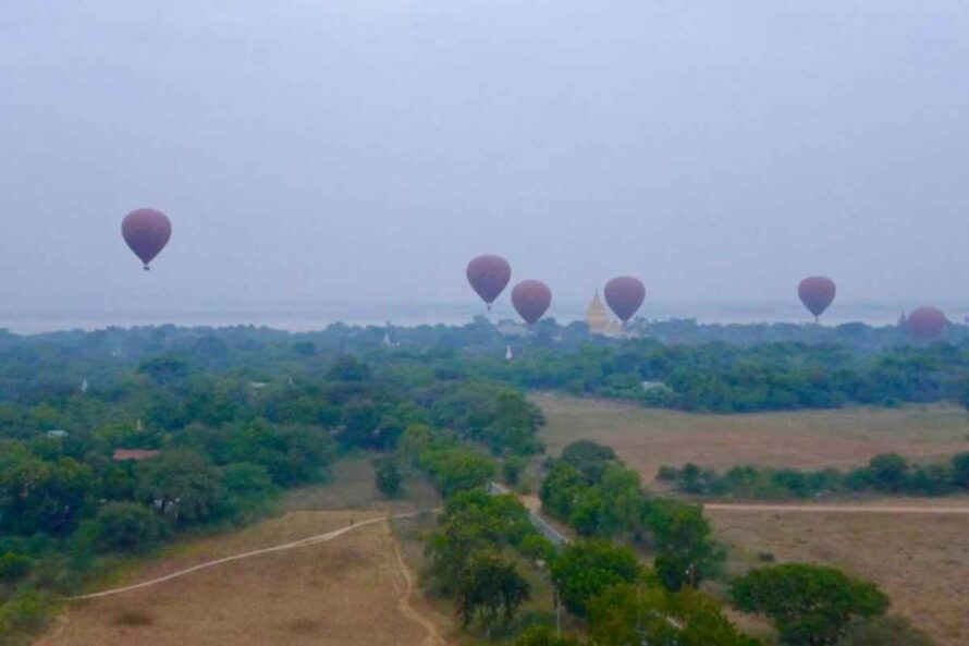 Balloons Over Bagan filling up the Sky