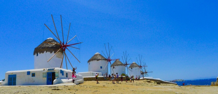 Mykonos Windmills, Mykonos, Greece