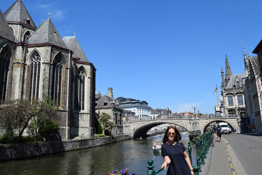 Me on the riverside in Ghent, Ghent, Belgium