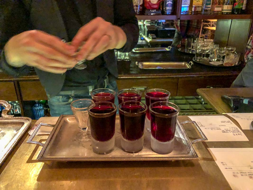 Cherry liqueur, Moscow, Russia
