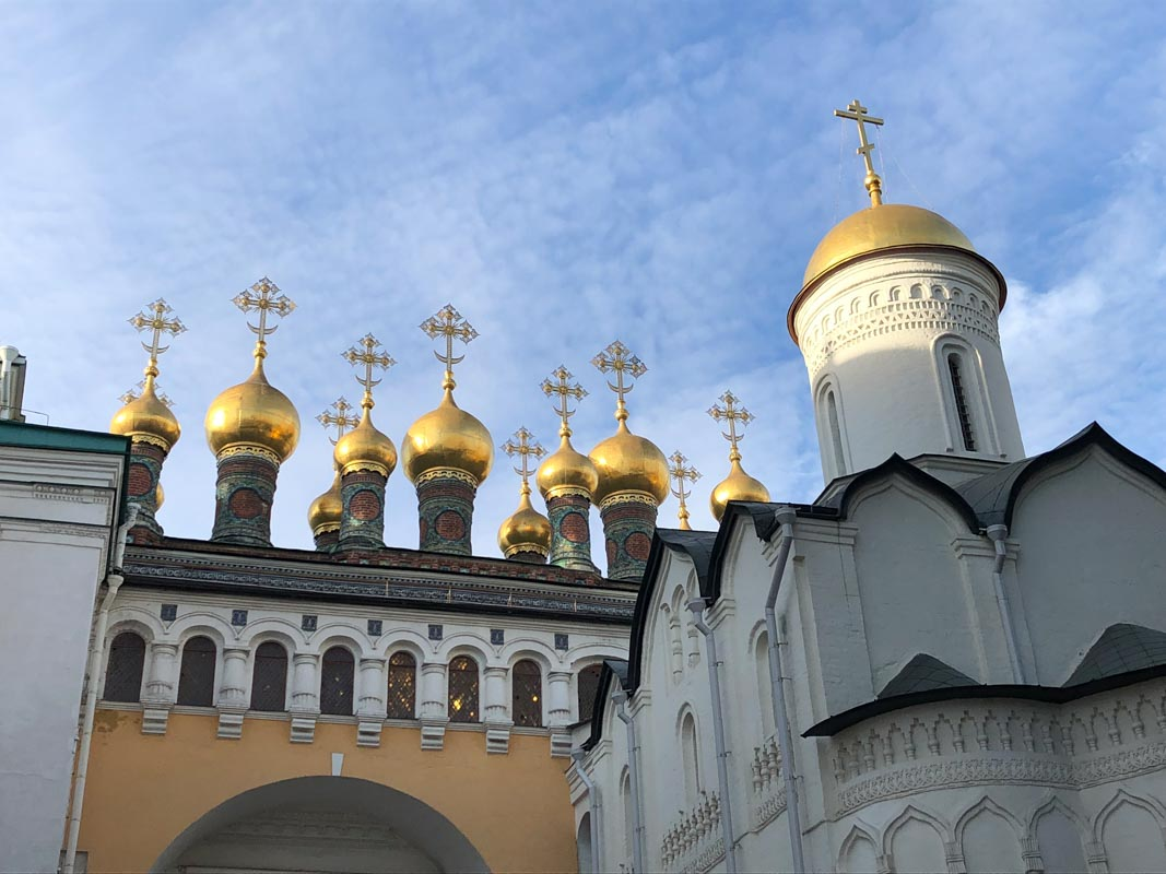 Onion Domes, Kremlin, Moscow, Russia