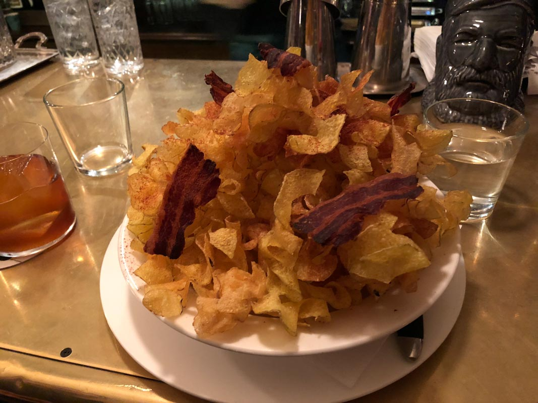 Potato Chips and Bacon, Delicatessan, Moscow, Russia