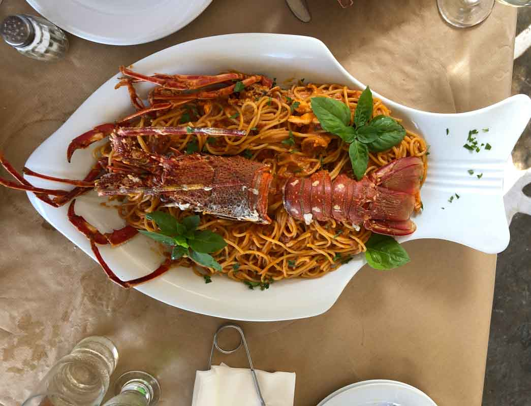 Lobster Spaghetti, Paros, Greece